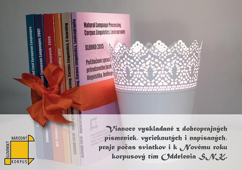 Slovenský národný korpus – vianočný pozdrav 2015